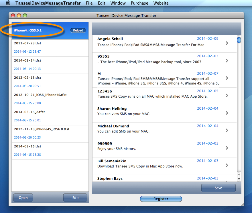 iPhone/iPad/iPod Transfer SMS&MMS&iMessage For Mac